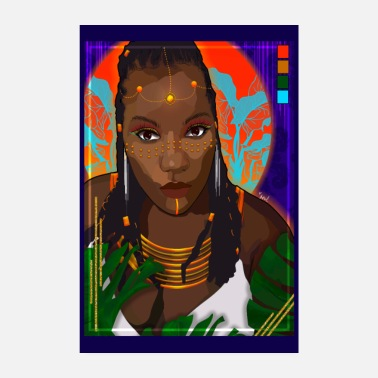 Black Girls Rock Queen of Agoji - Poster