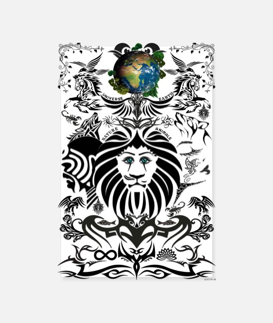 Nature Posters - Poster - Mother Nature - Mother EARTH (Usa) - Posters white