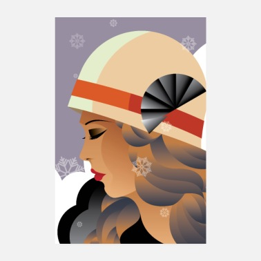 Art Art Deco | Winter woman - Poster