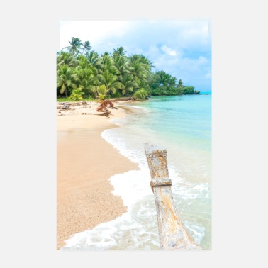 Aitutaki Lonely Island Beach and crystal clear paradise - Poster