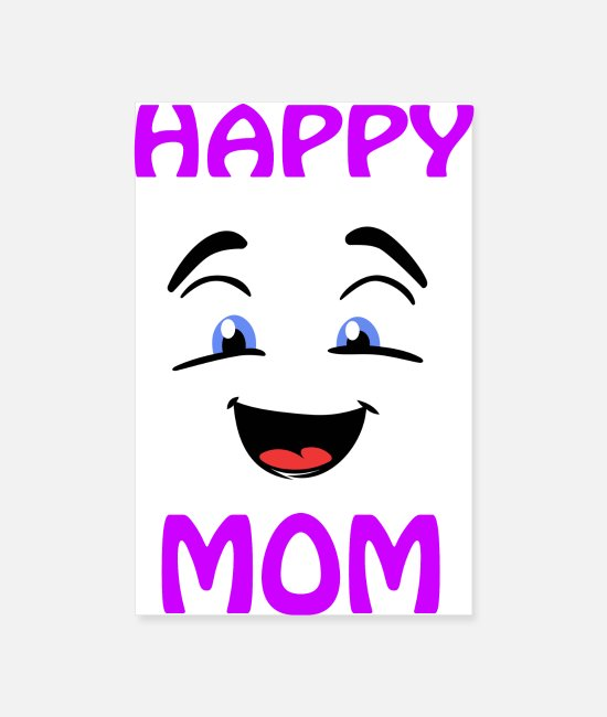 Giggle Posters - Happy joyful mom mother - Posters white