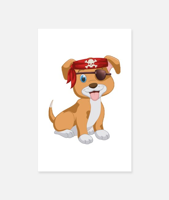 Pirate Posters - Pirate puppy - Posters white