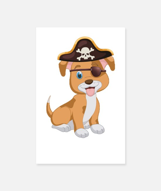 Sweet Posters - Pirate captain - Posters white