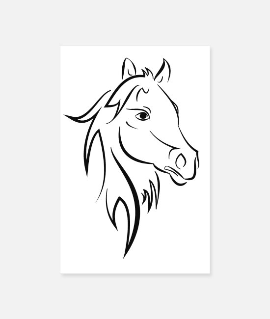 Cavalier Posters - cheval - Posters blanc