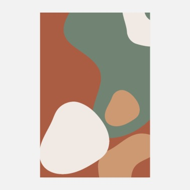 Shape Abstract shapes earthy tones soft organic forms - Poster