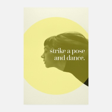Strike Superprints: strike a pose and dance - Poster