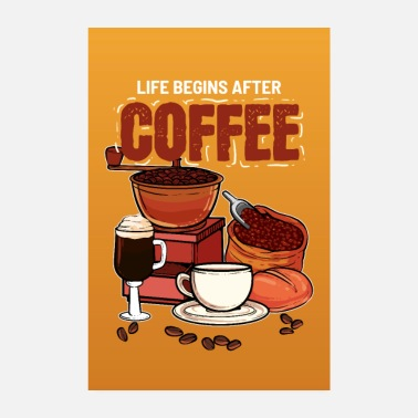 Coffeeshop Life Begins After Coffee Addict Coffeeshop Barista - Poster