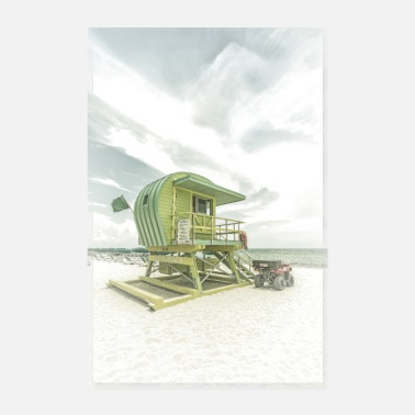 MIAMI BEACH Florida Flair | Vinatge - Poster