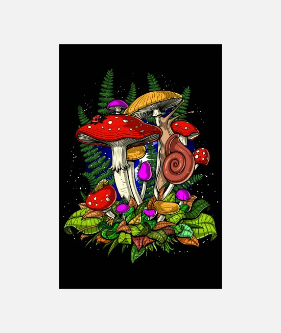 Nature Posters - Forest Magic Mushrooms - Posters white