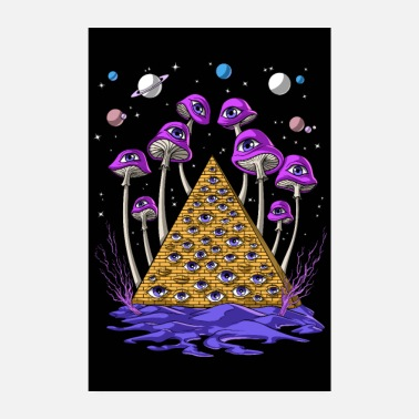 Hallucinogen Psychedelic Egyptian Pyramid - Poster
