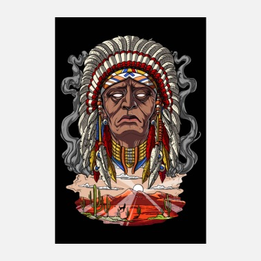 Native Native American Indian Chief - Poster