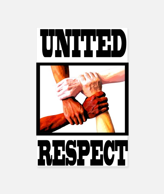 Friendship Posters - Anti-racism respect unit - Posters white