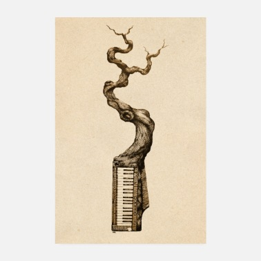 Piano Piano and tree - Poster