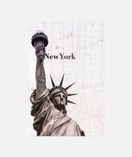 Usa Posters - New York Poster - Posters white
