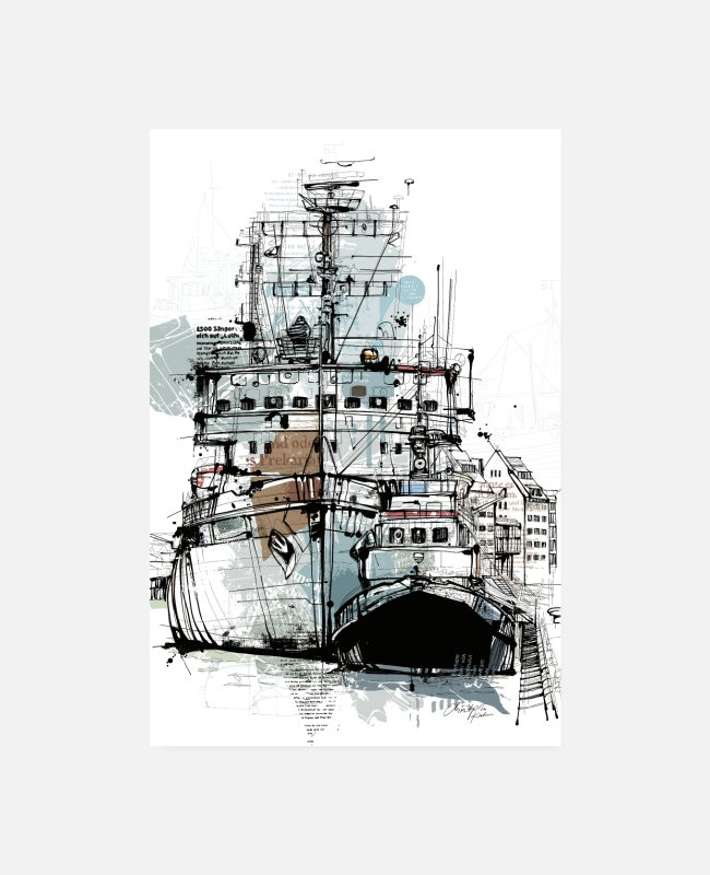 Drawing Posters - Icebreakers and tugs - Posters white