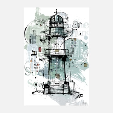 Lighthouse Lighthouse modern - Poster