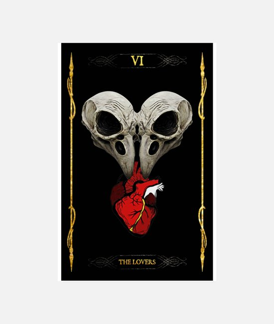 Witchcraft Posters - The lovers poster - Posters white
