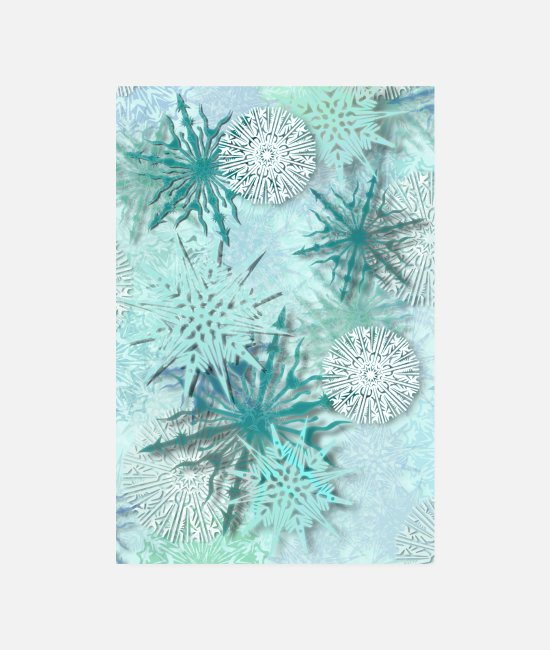 Pattern Posters - snowflakes - Posters white