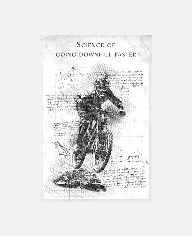 Downhill Poster - Mountain bike - Poster bianco