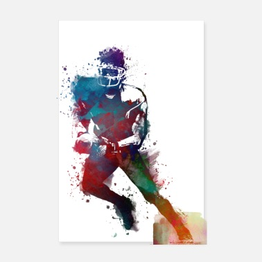 Football Player american football player sport - Poster