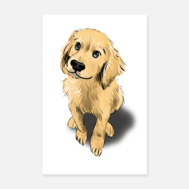 Eläinrakas Golden Retriever Dog Puppy Dog Love Juliste - Juliste