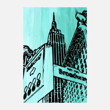 Drawing Painting Symbol New York - Poster