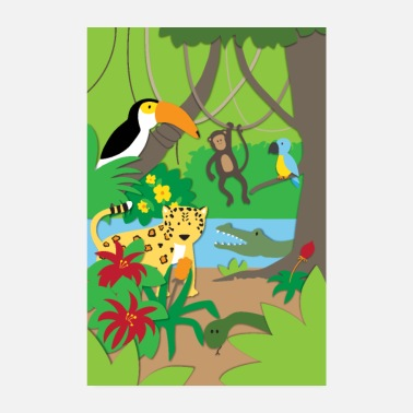 Jungle Jungle animals - Poster