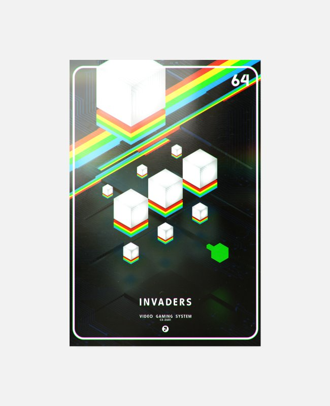 80ies Lover Posters - INVADERS - Posters white