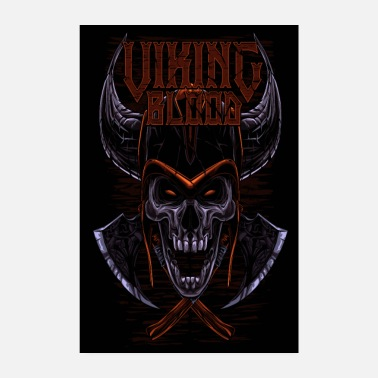 Emo Viking Blood Odin Walhalla Viking Gift - Poster