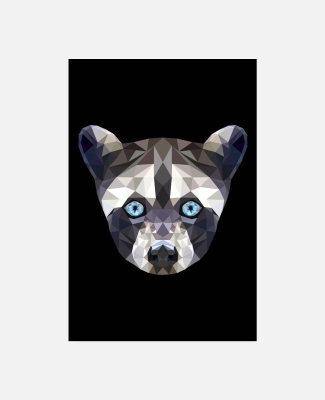 Wild Posters - WASHBAR ANIMAL FACE GIFT BLUE EYES POSTER - Posters white