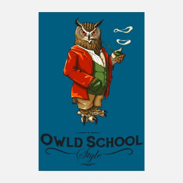Uil Owld schoolaffiche - Poster 20x30 cm