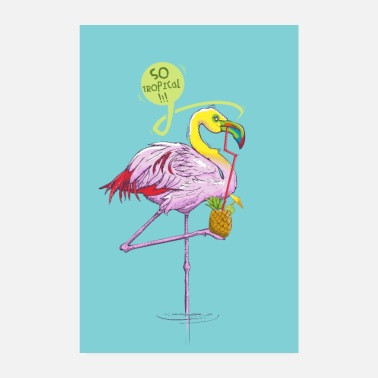 Zomer Flamtoucan poster - Poster