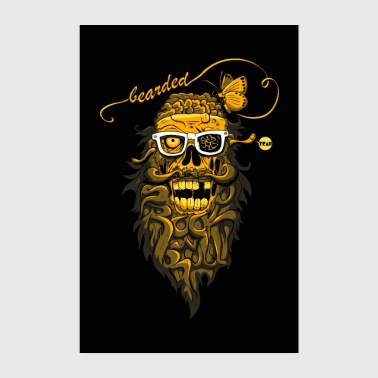 Rock N Roll bearded Zombies affiche - Poster 20 x 30 cm