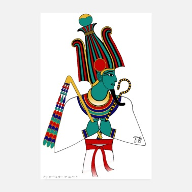 Ancient POSTER: Osiris, ancient Egyptian deity - Poster 8 x 12
