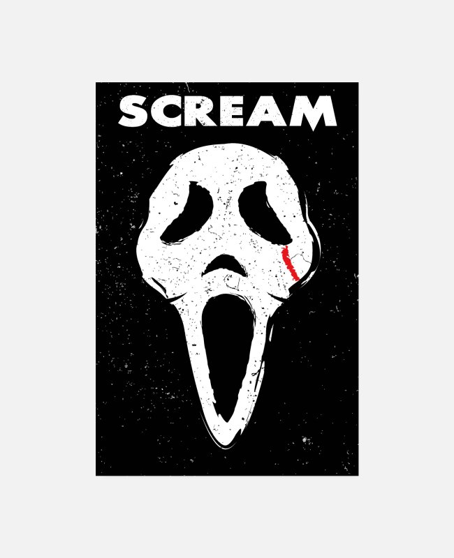 Horror Film Posters - Scream - Posters white