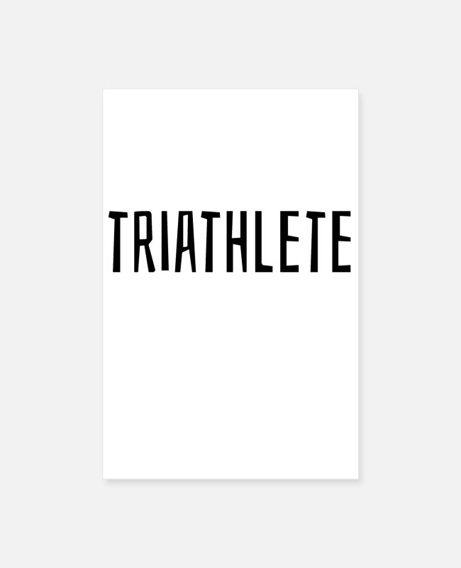 Cycling Postere - triathlete - Postere hvit