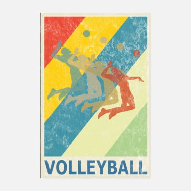 Volley Retro Vintage Style Beach Volleyball Spieler - Poster