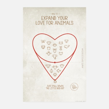 Anti Poster Expand your love for animals - Poster 8 x 12
