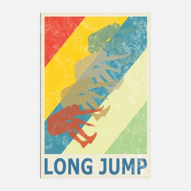 Sprint Retro Vintage Style Long Jump Wide Jump - Poster