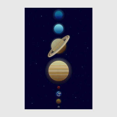 Solar System Space Planets Poster - Poster 8 x 12