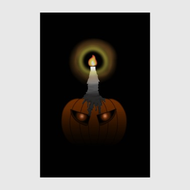 Spooky Pumpkin with Glowing Aug Poster (Halloween) - Poster 8 x 12
