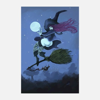 Fly Fly witch fly - Poster 8 x 12
