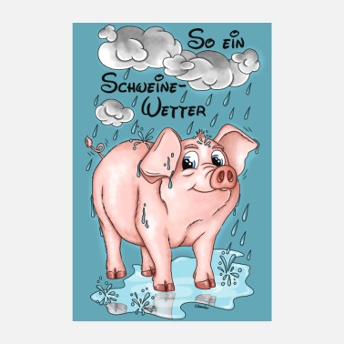 Weather Pigs Weather - poster - Poster
