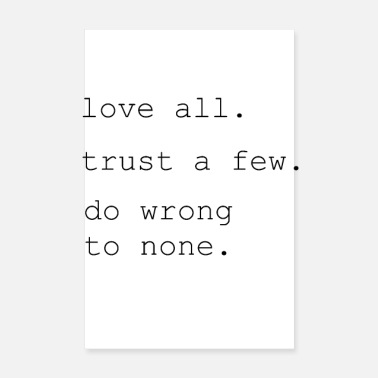 Pride Love Trust Motivation Pride - Poster 20x30 cm