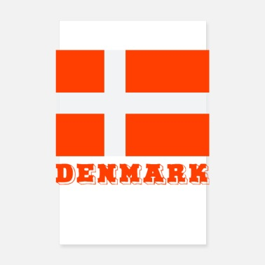 Country Denemarken - Poster 20x30 cm