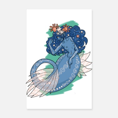 Politics Feminist Mermaid - Poster 8 x 12