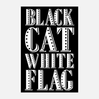 Schrank Black cat white flag - Poster schwarz - Poster