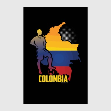 Country Colombia countries flag football flag gift - Poster 8 x 12