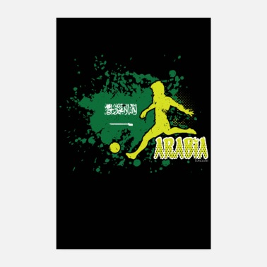 Saudi Arabia countries flag football flag gift - Poster 8 x 12