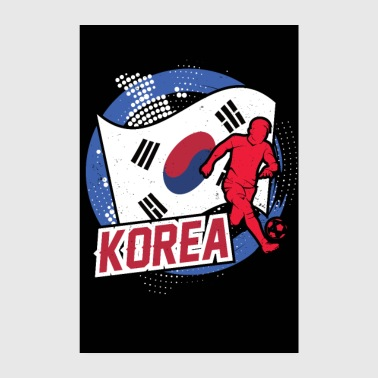 Country Korea countries flag football flag gift - Poster 8 x 12